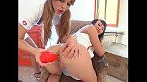 Nympho nurse Monika & friend stacked and milk fucked by BBC porn videos
