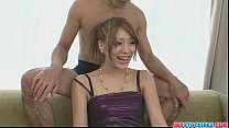 Hot Japanese Nana tries hard to entertain three wankers porn videos