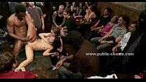 sex group public in ravaged Brunette