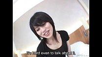 Subtitled pale Japanese unfaithful wife secretly does AV porn videos
