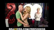 Big-tit blonde MILF Jennifer Best sucks dick on...