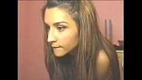 Cute webcam girl Jasmin stripping down topless