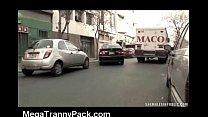 Tranny Blowjob in a Taxi!