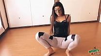 Big Botty Teen In Tight Yoga Pants Stretching H...