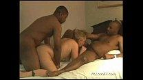 Interracial mmf spit roasting white girl