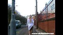 English blonde babe Crystel Lei flashing Aston ...