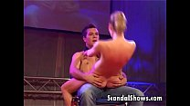 Horny striper riding a lucky guy