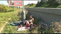 roadside sex public couple Naughty