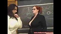 Hot teacher with big tits licks thumbnail