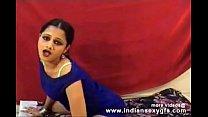 Hot Desi Anjana indian girl dance squeezing her...