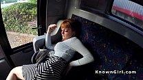 Hirsute redhead amateur teen banging in the bus porn videos