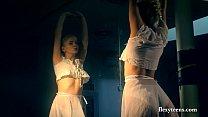 Flexible Lena shows nude gymnastics porn videos