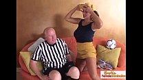 Big tit cougar fucks the referee porn videos