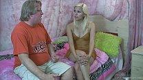 Horny blonde teen makes an old man cum porn videos