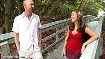 teen girl gets surprise creampie