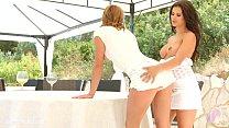 Victoria Daniels and Billie Star in lesbian sce...