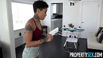 PropertySex - Hot tenant cheats on her DJ boyfriend with landlord porn videos