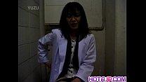Yuko Tachibana uses vibrator on pussy on WC