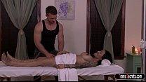 Latin Ts Foxxy has her massage turning into dog...
