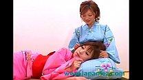 Japanese Lesbian Sluts Wearing Kimonos Get It On porn videos