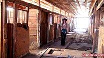 canadian cowgirl shanda fay gets fucked in the barn
