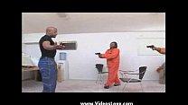 Big-booty black chick big dick burglars