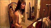 Cute amateur girl dancing in bathroom porn videos