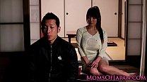 Mature Japanese Hitomi Tanaka titty fuck thumbnail