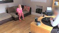 FakeAgentUK Amateur petite blonde girl empties agents balls in fake casting porn videos