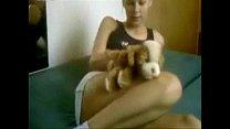 blonde dutch amateur girl masturbating with her dog thumbnail