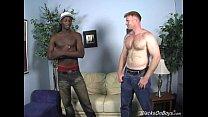 dakota has some manly fun with a black guy