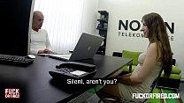 horny slut rides her bosses hard dick