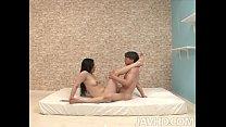 Horny Yuuka Tsubasa is given a variety of sexual positions to practice at home w thumbnail