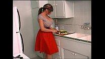 hot shemale masturbating in kitchen