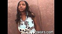 Incredible ebony teen blowjob audition at my of...