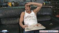 Busty brunette Jayden Jaymes suck a massive dick