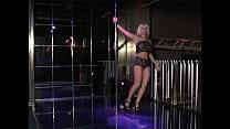 Blonde girl dancing in the club