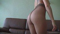 webcam on teasing nylons in Blonde