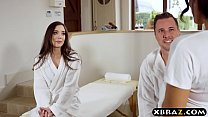 MILF masseuse gives couple an unforgettable massage a trios porn videos