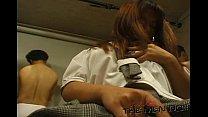 Bukkake Highschool Lesson 8 1/4 Japanese uncensored blowjob thumbnail