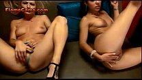 Two Sexy Girls Masturbate On Cam