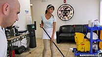 bangbros   the new cleaning lady swallows a load