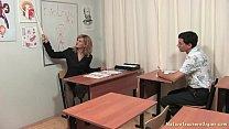 russian mature teacher 4   katerina biology lesson