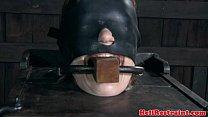 Head bonded skank in stocks