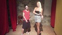 Beauty blonde teaches her shy friend