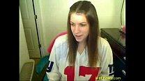 Great masturbation of horny teen on web cam