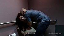 Rough sex with redhead in public bathroom porn videos