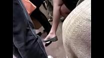 Asian milf on F train expert dangle