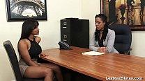 black lesbians jenna and kira cum hard with sybian