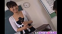Misato Kuninaka is fucked with sex toys before double teaming porn videos